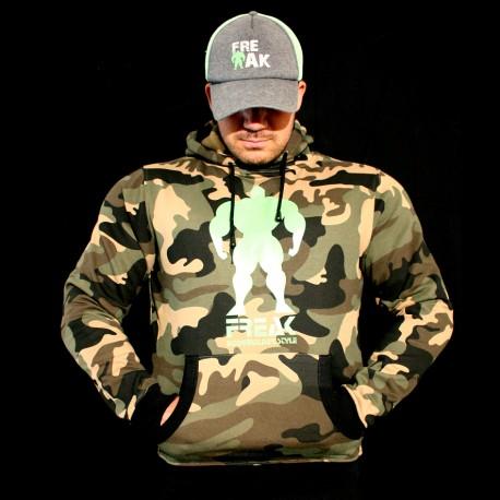 Felpa Camouflage - Go Hard or Go Home