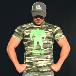 T-shirt Camouflage Warning Bodybuilder dieting