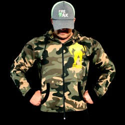 Felpa Zip Camouflage - Go Hard or Go Home