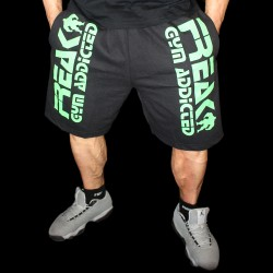 Shorts Black Green Gym Addicted