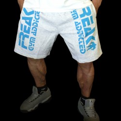 Shorts Grey Turquoise Gym Addicted