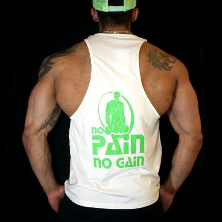 TankTop White No Pain No Gain