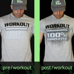 T-shirt Grey Workout 100% completed