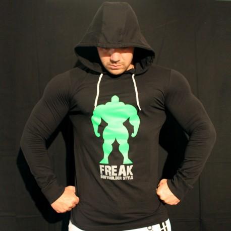 T-shirt Black Slim Fit - Manica lunga - Installing Muscle