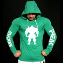 T-shirt Green Slim Fit - Manica lunga - 60%Machine 40%Man