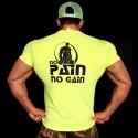 T-shirt  Yellow No pain No Gain