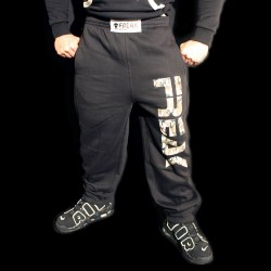 Pantaloni  felpati Black Camou