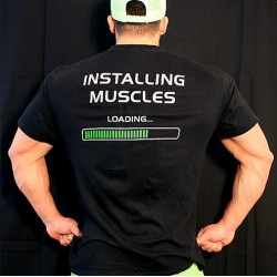 T-shirt  Black installing Muscles