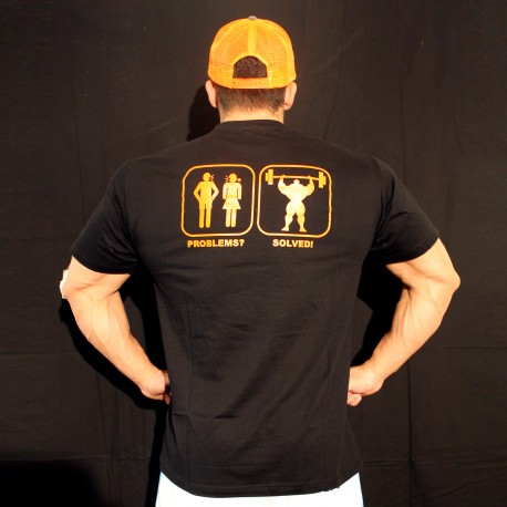 T-shirt  Black Problem Solved