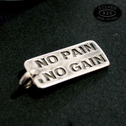 Ciondolo in argento No Pain No gain