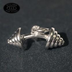 Ciondolo in argento Barbell