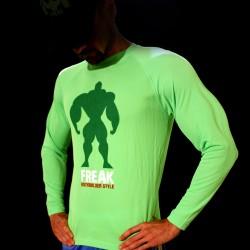 T-shirt Green BodyTeck Manica Lunga - 100% Italian BodyBuilder
