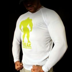 T-shirt White BodyTeck Manica Lunga - No Sacrifice No Success
