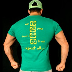 T-shirt Green Eat Sleep Train