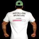 T-shirt  White installing Muscles