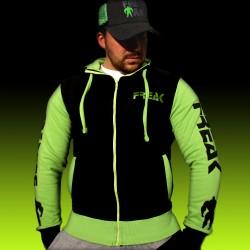 Felpa Zip Black Green New