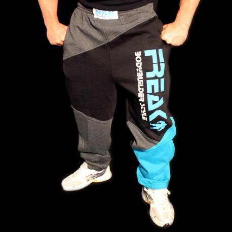Pantaloni  felpati  ZigZag Black Turquoise