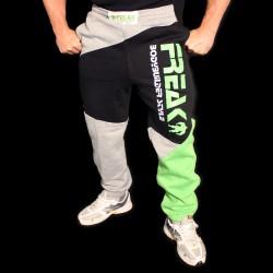 Pantaloni  felpati  ZigZag Black Green