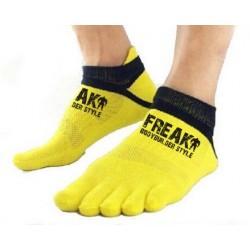Calzino corto Yellow Black Five Finger