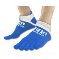 Calzino corto Blu White Five Finger