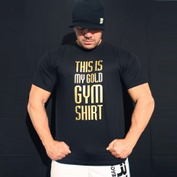 T-shirt Limited Edition Black Gold Gym Shirt