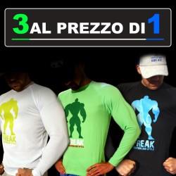 BodyTeck PACK - 3 t-shirt manica lunga al prezzo di 1