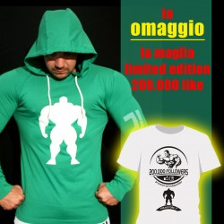 T-shirt Green Slim Fit + OMAGGIO T-shirt Limited Edition 200.000 like