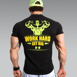 T-shirt Black Work hard