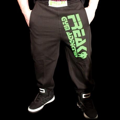 Pantaloni  felpati  Black Green Addicted