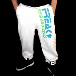 Pantaloni felpati White Addicted