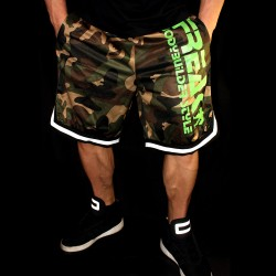 Shorts Camouflage White Green