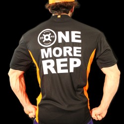T-shirt Black Orange Fluor BodyTeck - ONE MORE REP