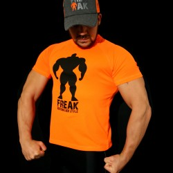 T-shirt Orange Fluor BodyTeck - Don't Dream