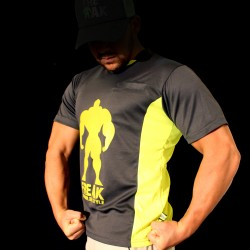 T-shirt Grey Yellow Fluor  BodyTeck - To Be a Legend