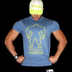 T-shirt Blu Never Give Up