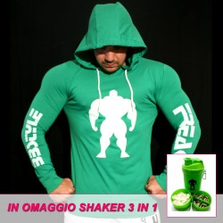 T-shirt Green Slim Fit - Manica lunga - 60%Machine 40%Man -