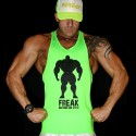 TankTop Shock Green - Work Hard!   MODELLO UNISEX
