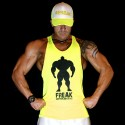 TankTop Shock Yellow - Never GiveUp!   MODELLO UNISEX