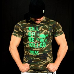 T-shirt Camouflage Kill or be Killed - Green